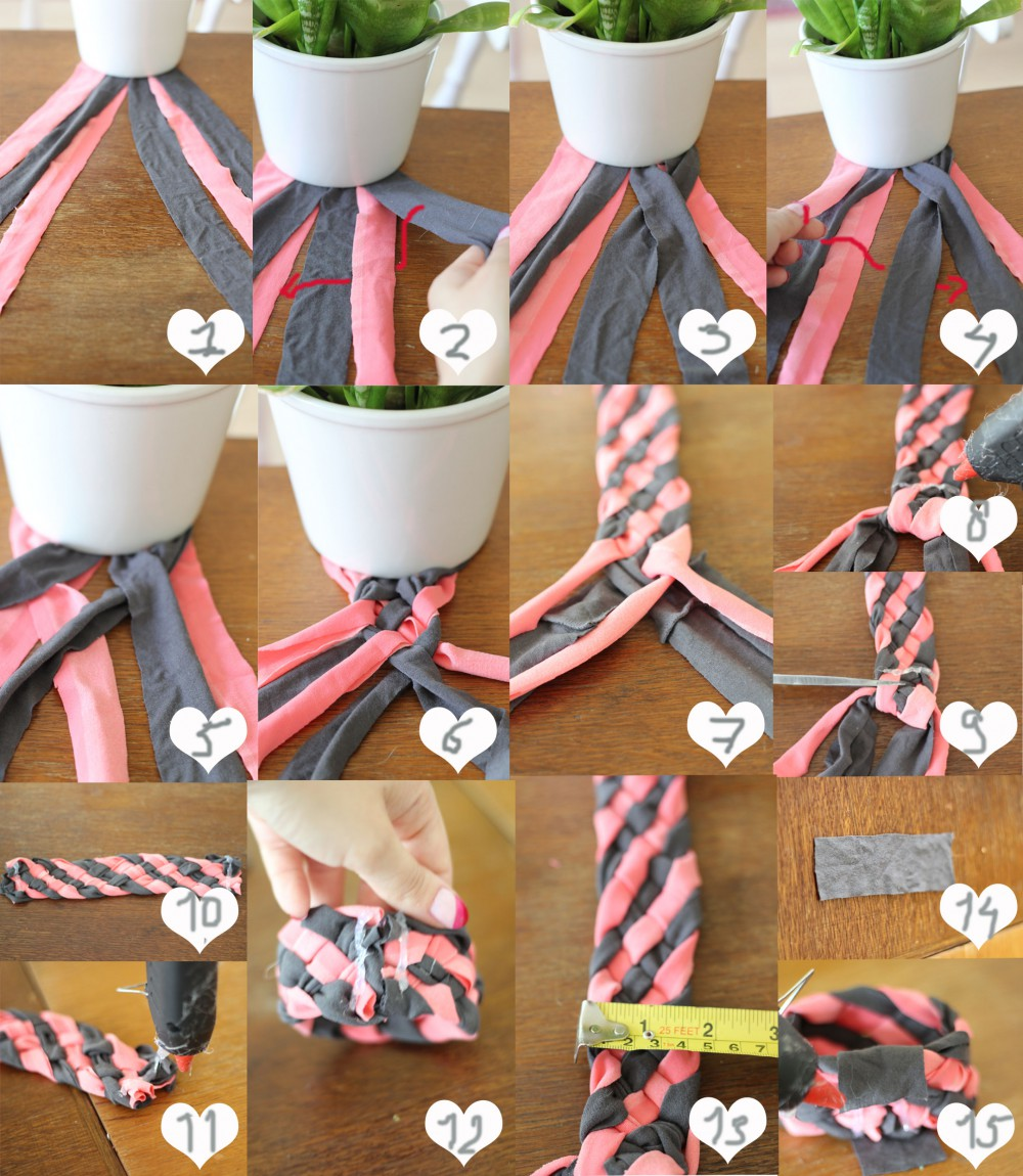 DIY | Shirts into Braided Bracelet