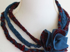 DIY | Old Shirts into Stretchy Necklace