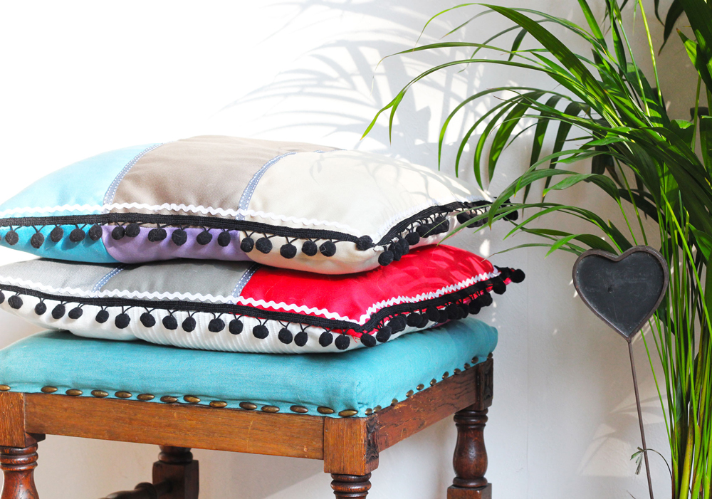 Modern Patchwork Pillow : DIY Modern Patchwork Pillow