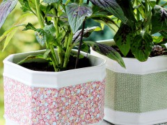 DIY  | Fabric Flower Pots