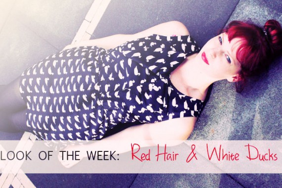 Look of the week: Red Hair & White Ducks