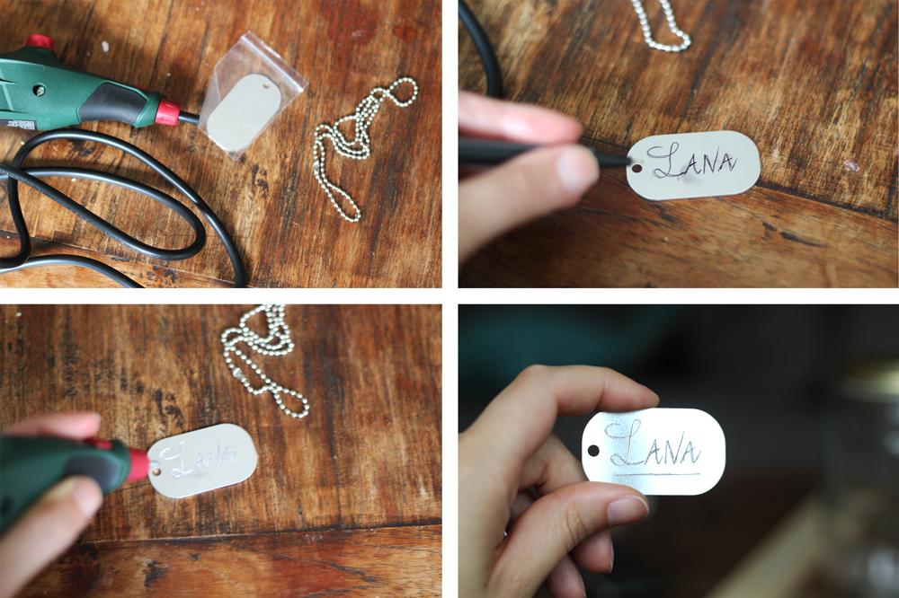 DIY | Engraving Nametag Necklace