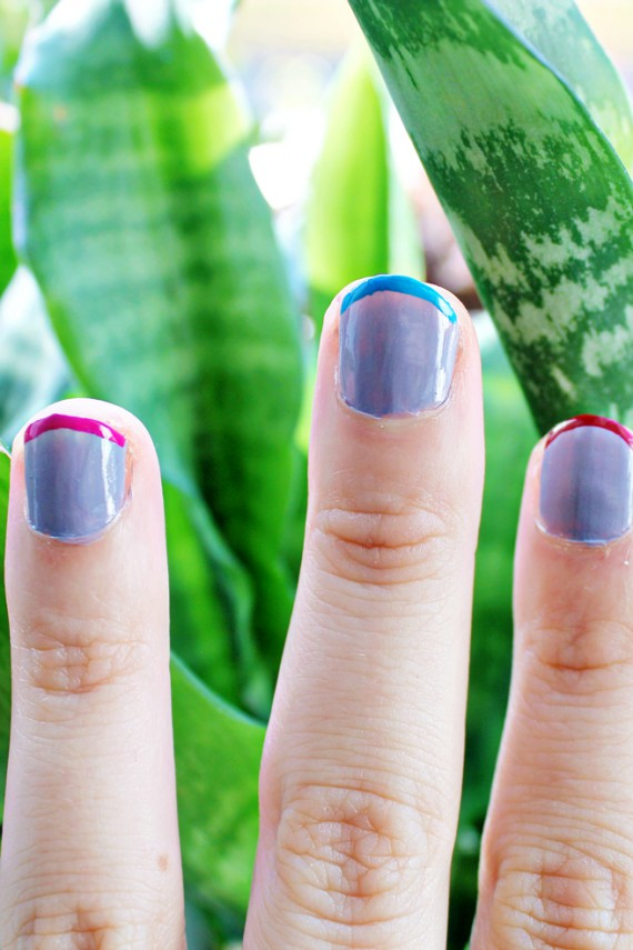 NAIL DIY | Color Striped Nails
