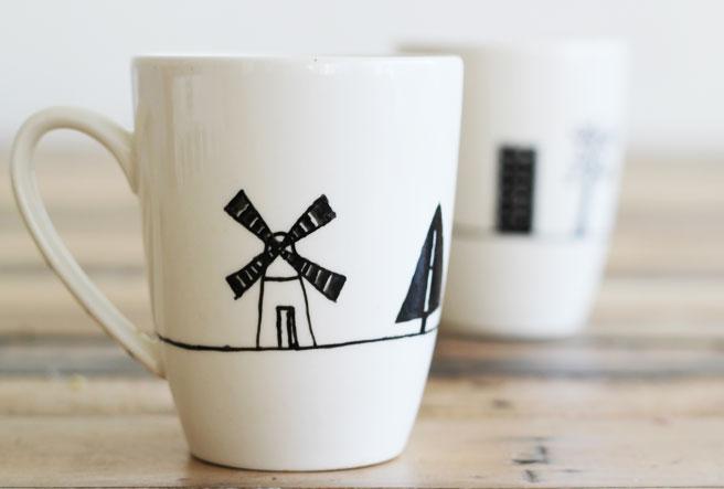 DIY Painted Mugs - Diy creative painted mug