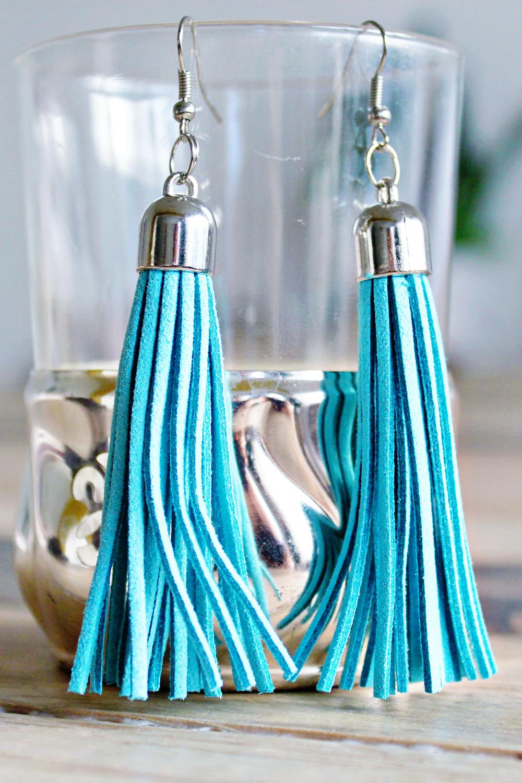 diy tassel earring. Black Bedroom Furniture Sets. Home Design Ideas