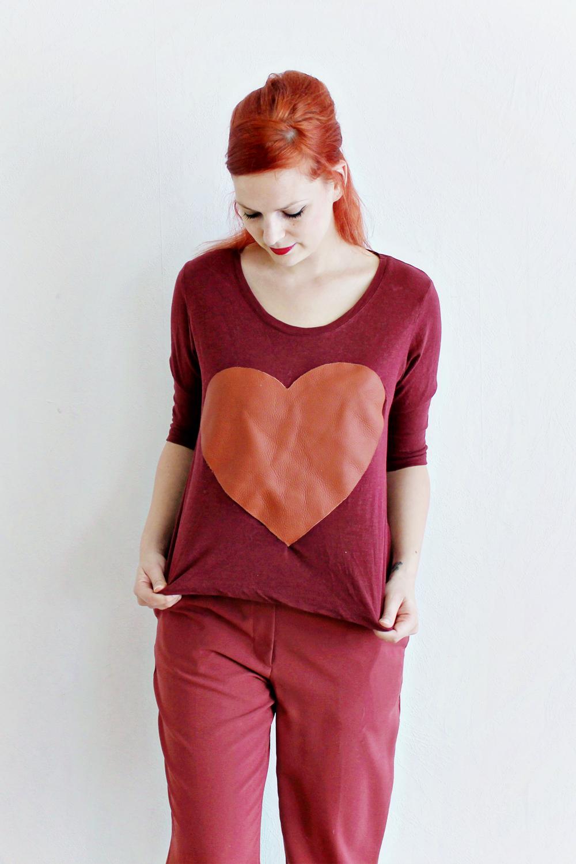 DIY | Leather Heart Shirt