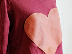 DIY | Leather Heart Shirt