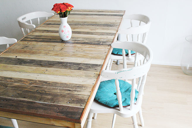 Pallet table diy - Table a manger palette ...