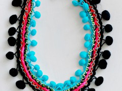DIY | Pom Pom Necklace