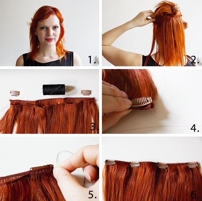 Hair diy clip in extensions brush your hair and if you have bought straight hair then straighten your own hair too pmusecretfo Images