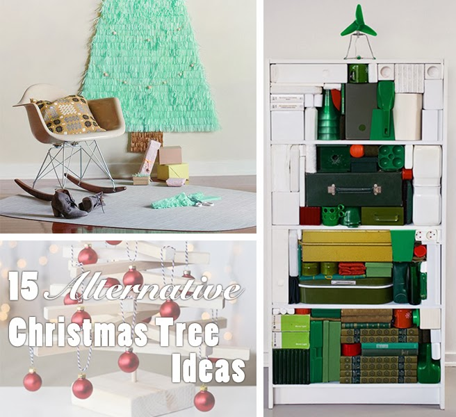 15 Non Traditional Christmas Tree Ideas: 15 Alternative Christmas Tree Ideas