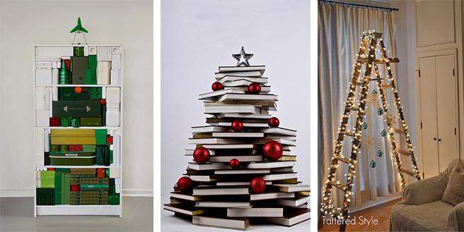 CHRISTMAS 15 Alternative Christmas Tree Ideas - Christmas Decorating Ideas Without A Tree