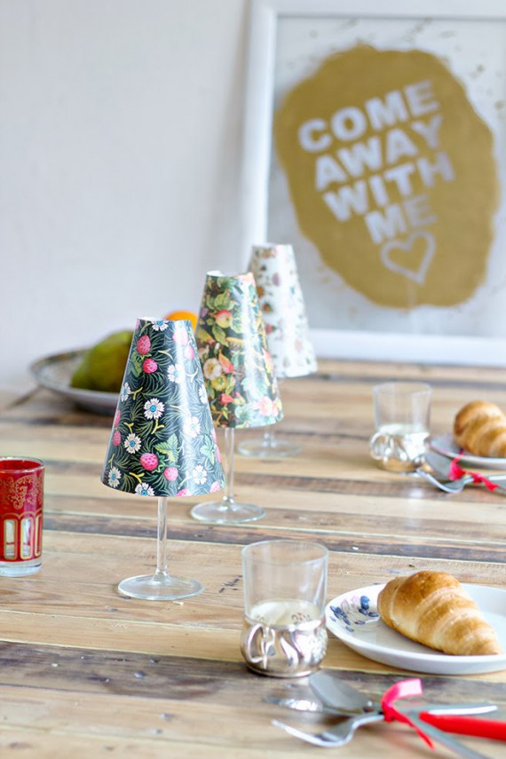HOLIDAY DIY | Wineglass Shade
