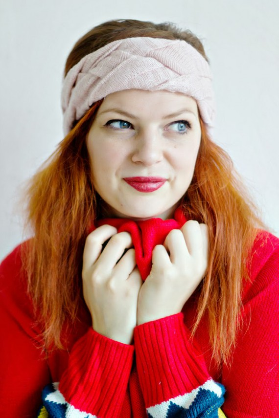 UPCYCLE DIY | Braided Headband from upcycled Sweater