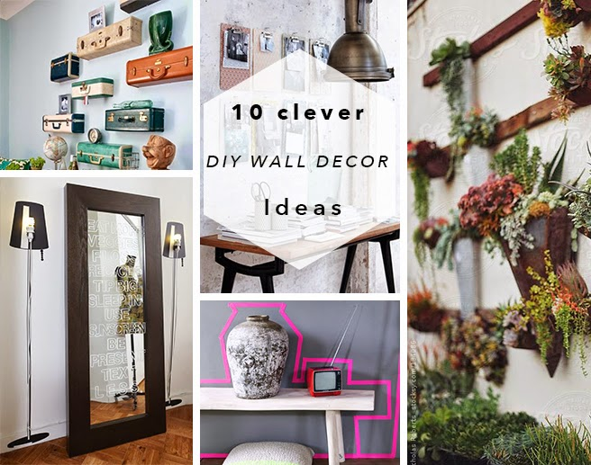 10 Clever DIY Wall Decor Ideas