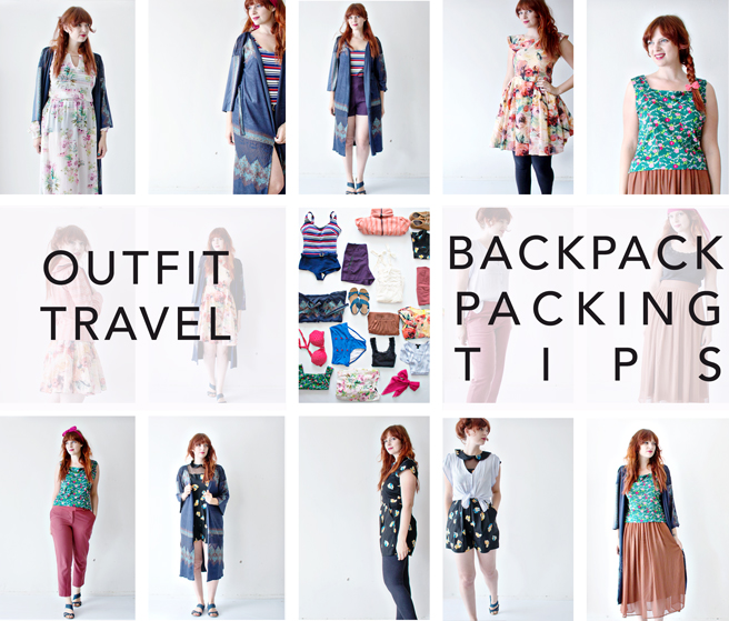 Outfit Travel Backpack Packing Tips