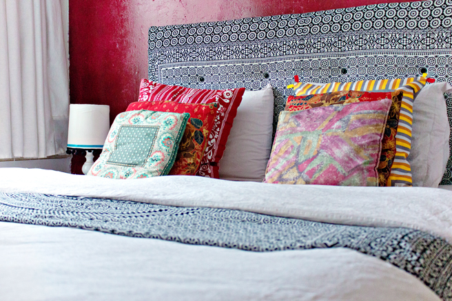 diy | canvas headboard