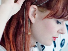 HAIR JEWELRY DIY | Button Chain Bobby Pins