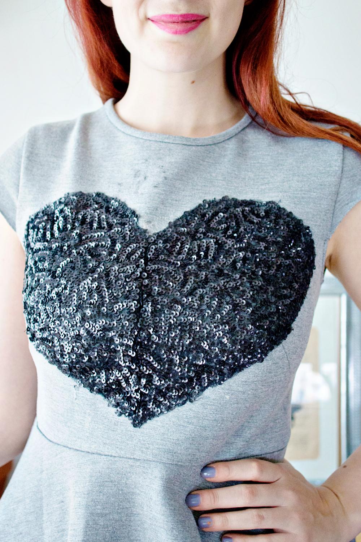 Diy Sequin Heart Top