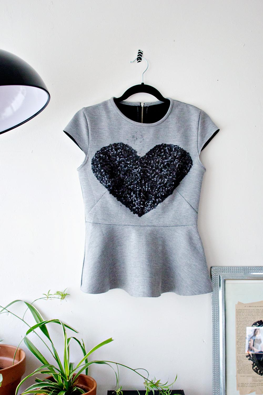 DIY | Sequined Heart Top