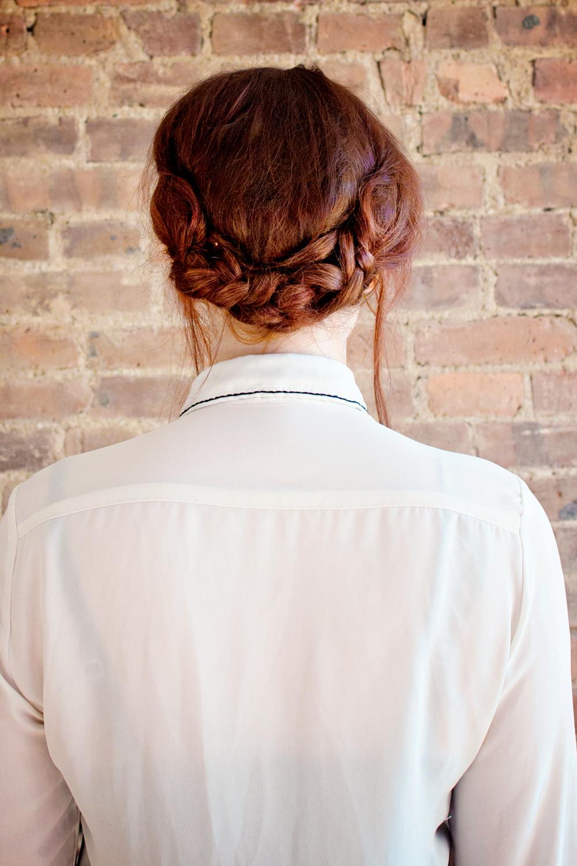 hair diy low braided bun