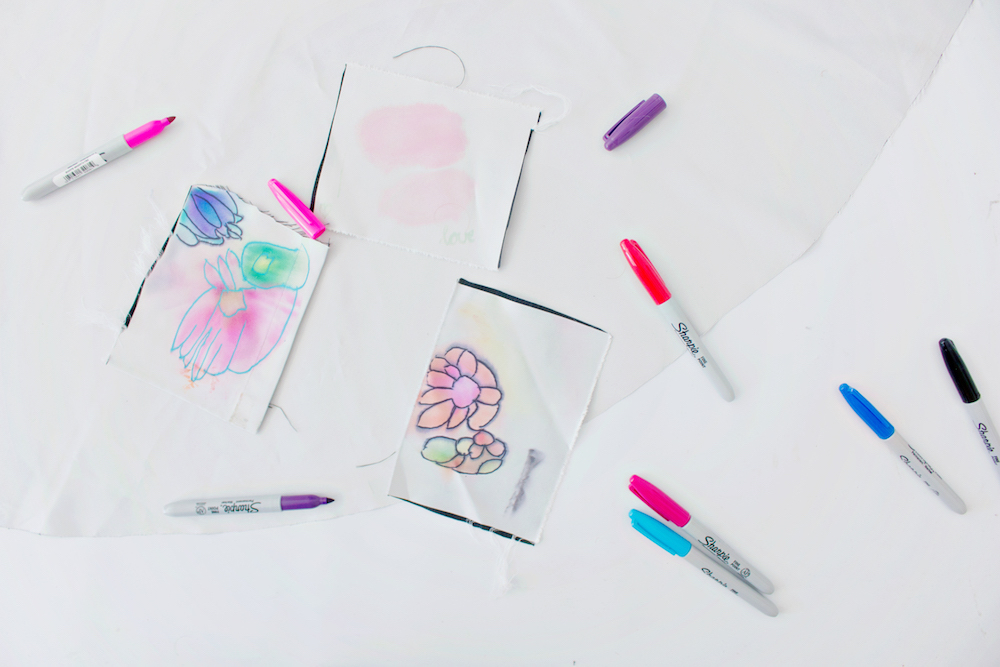 DIY | Sharpie & Alcohol Textile Print