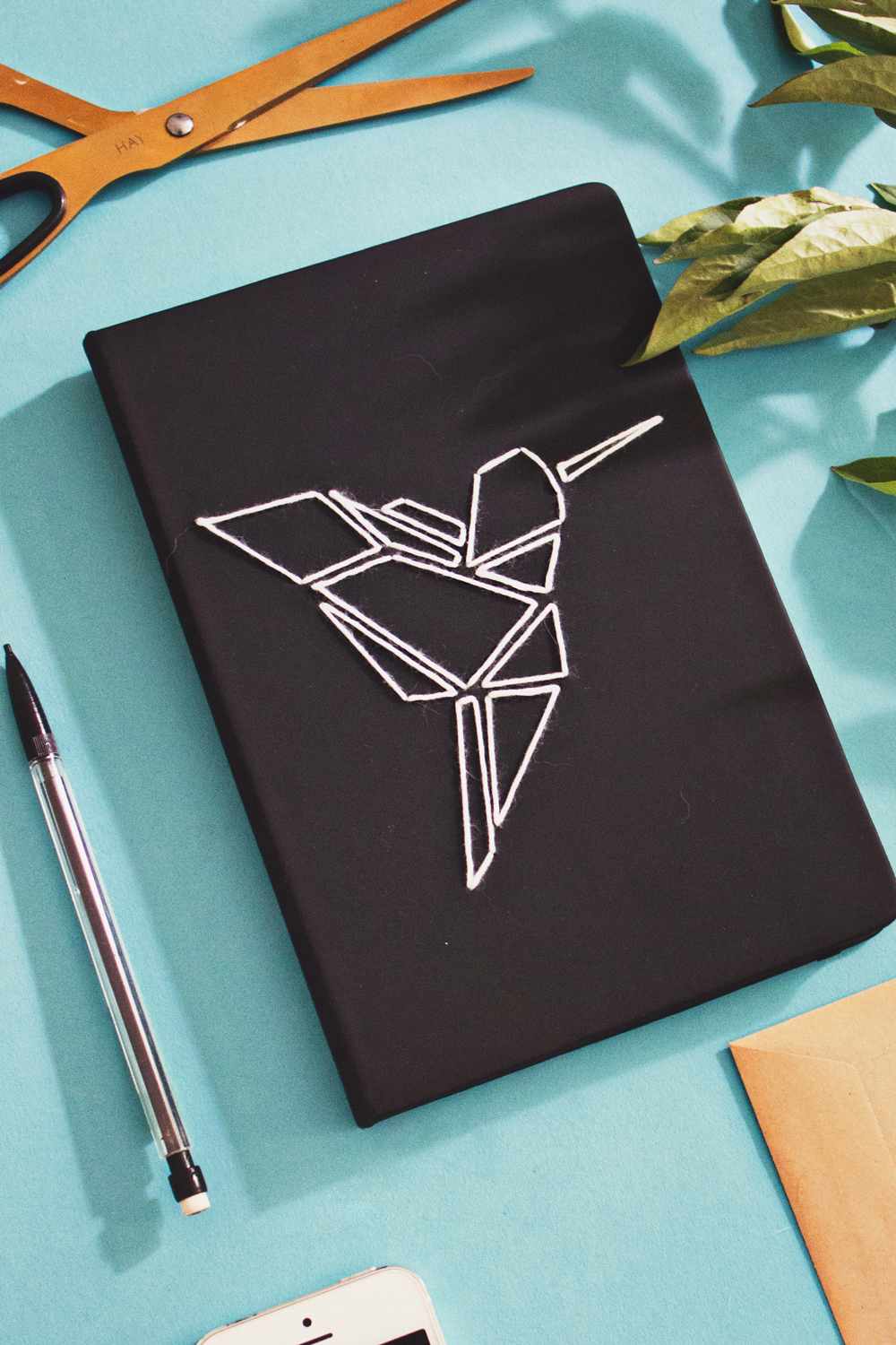 Diy Paper Book Cover : Diy origami embroidered book cover