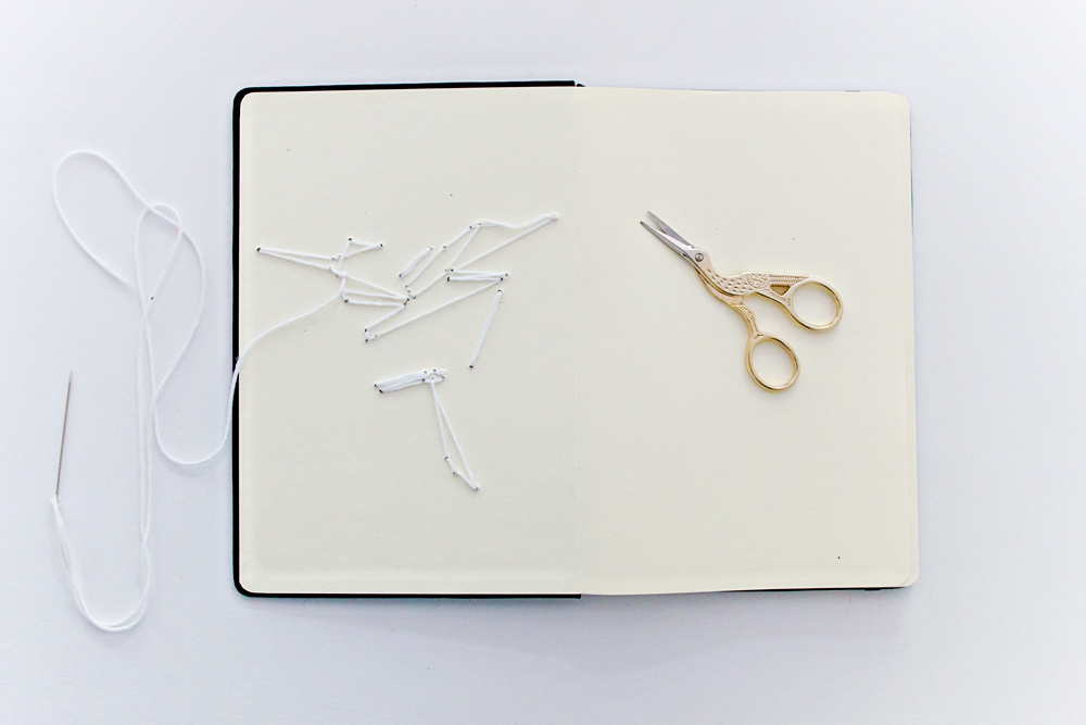 DIY | Origami Embroidered Book Cover