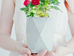 DIY | Geometric Concrete Planter