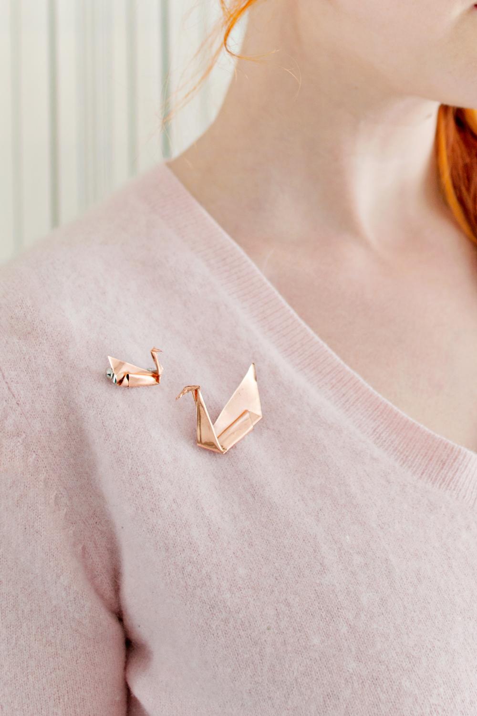 DIY | Copper Origami Brooch