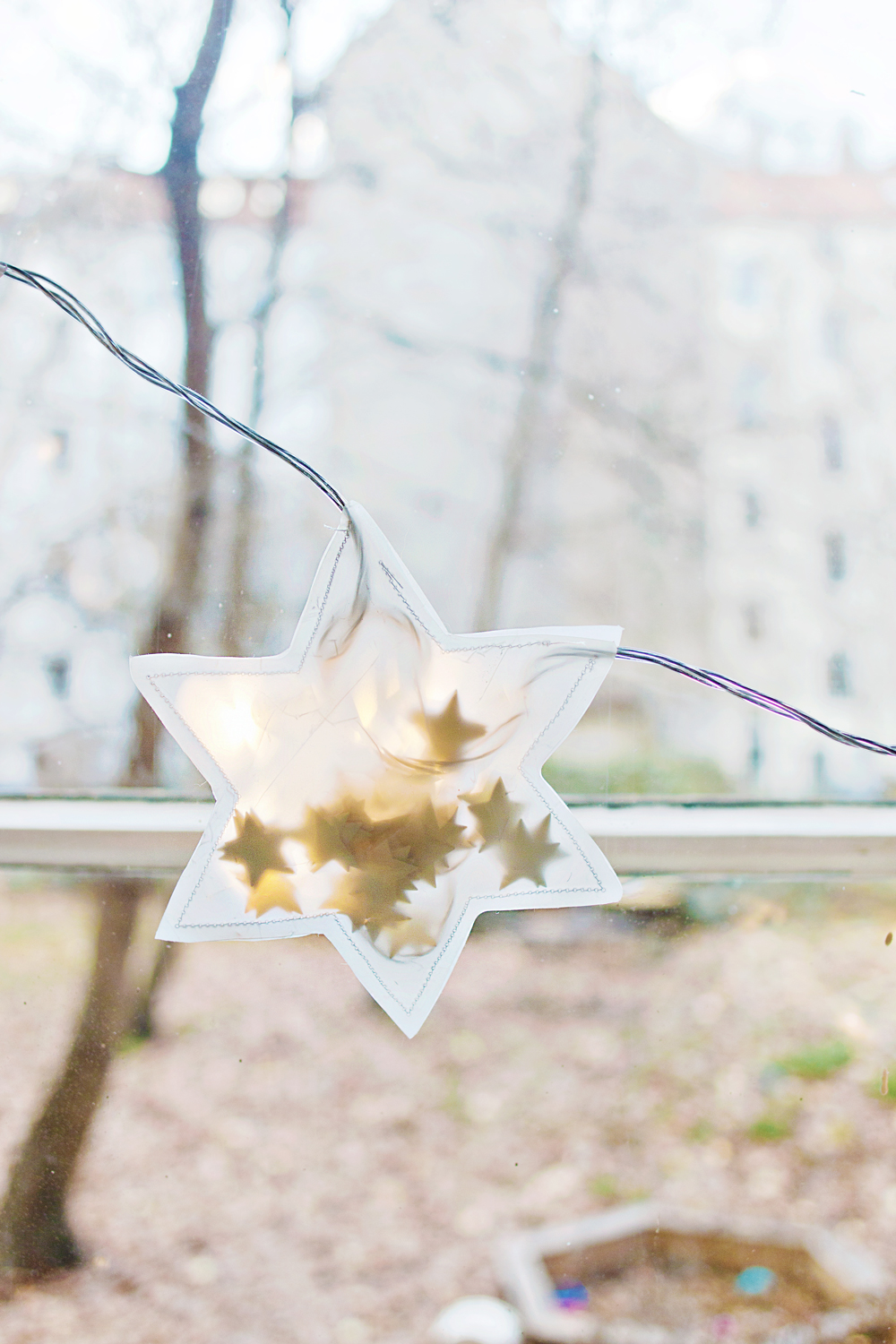 Christmas diy star string light garland