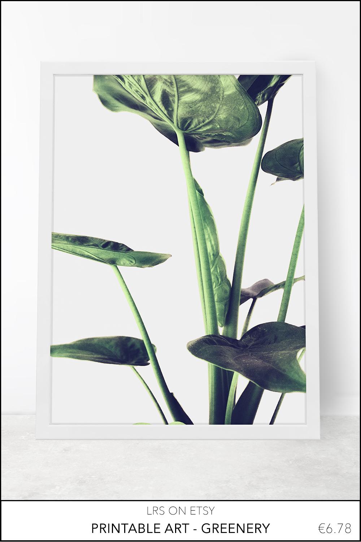 Printable greenery