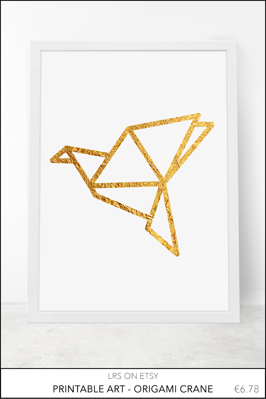 Printable origami crane
