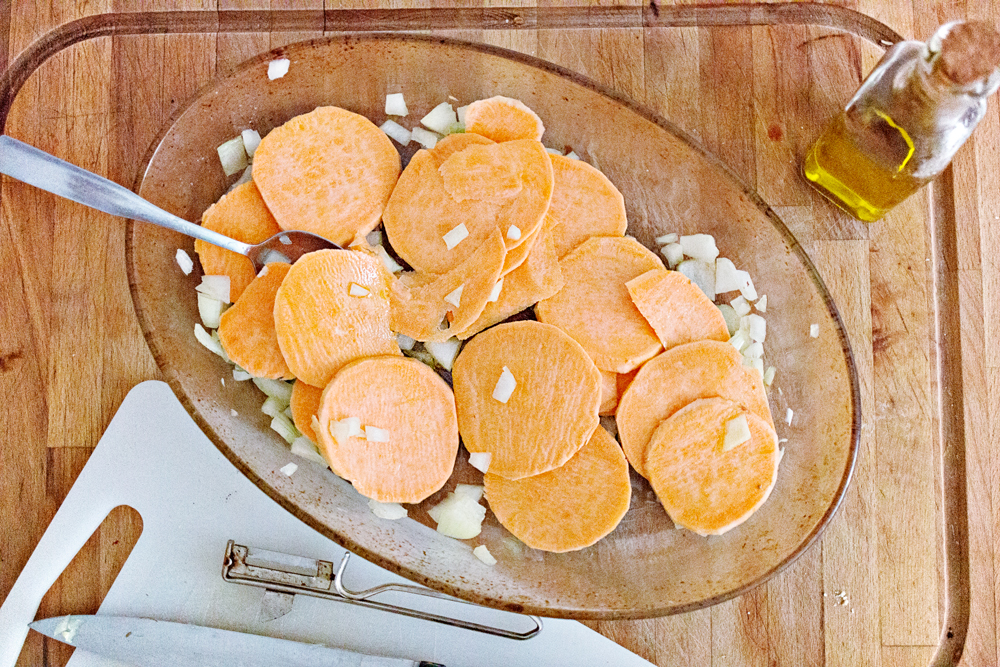 RECIPE   Sweet Potato & Goat's-Cheese Tart