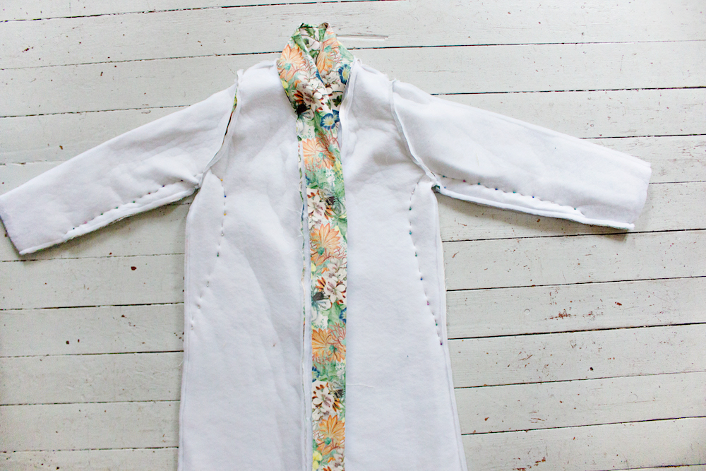 SEWING DIY | How to Make a Robe Coat in 30 Steps Without a Sewing Pattern 18