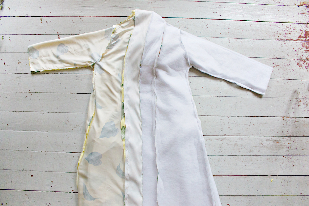 SEWING DIY | How to Make a Robe Coat in 30 Steps Without a Sewing Pattern 24