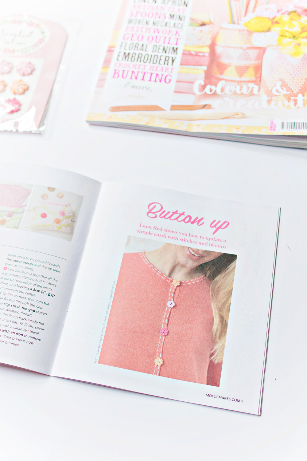 FEATURE | Mollie Makes Button Projects