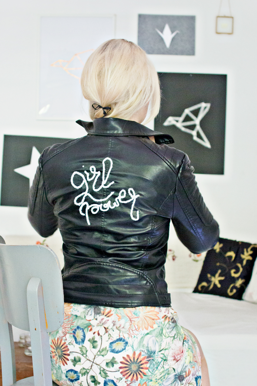 DIY | (faux) Leather Jacket – 3D Embroidery