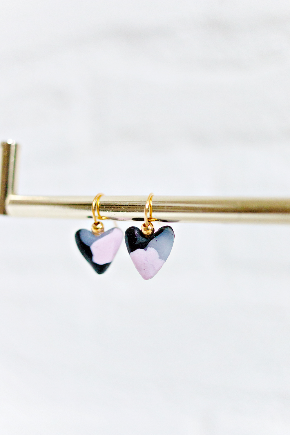 DIY | Minimal Clay Heart Earrings