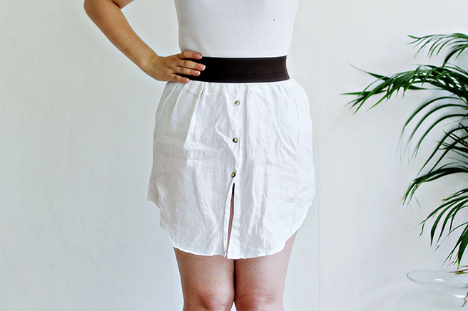 UPCYCLING DIY | Mens Shirt into Women's Skirt