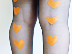 DIY | Painted Heart Tights