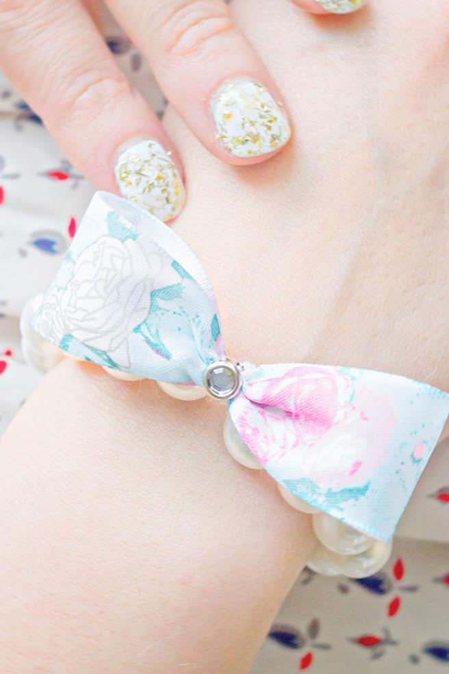Diy Fancy Nails: Fancy Stretchy Pearl Bow Bracelet