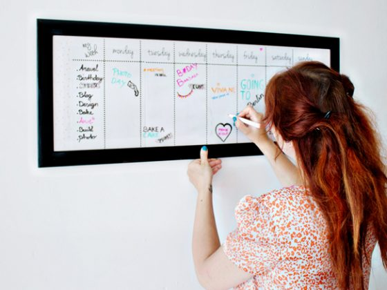 DIY   From Picture Frame To Dry Erase Board