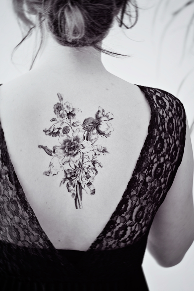 Pretty temporary art tattoo DIY and easy tutorial