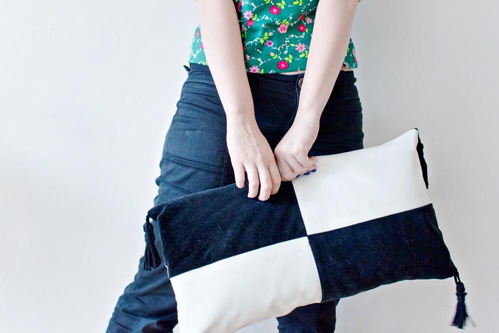 DIY Colour Block Cushion Cover