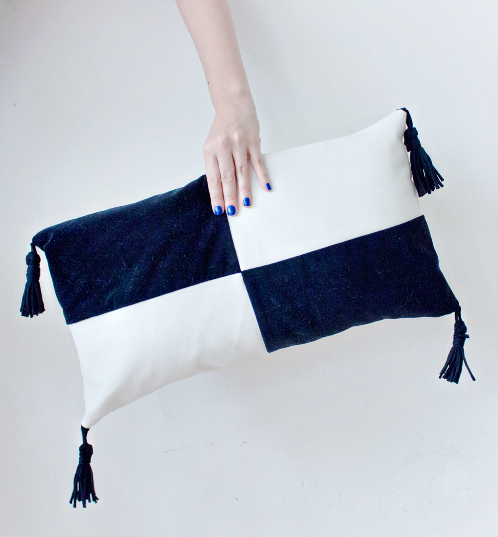 DIY Colour Block Cushion Cover