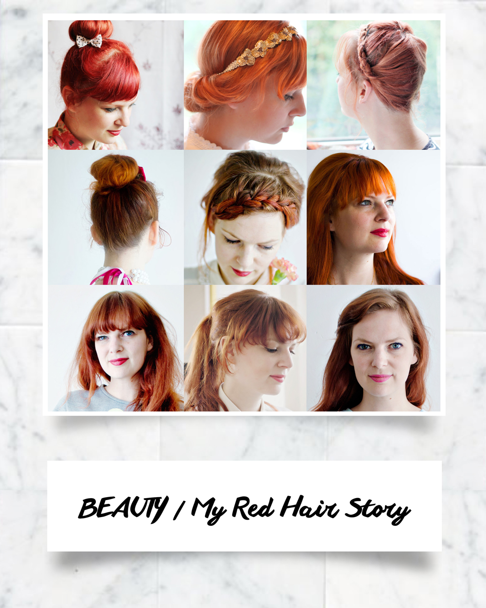 BEAUTY Going For Red Hair Tips