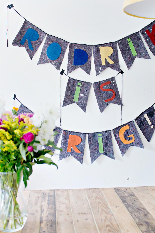 DIY织物横幅|聪明的缝纫工程到upcycle织物废料