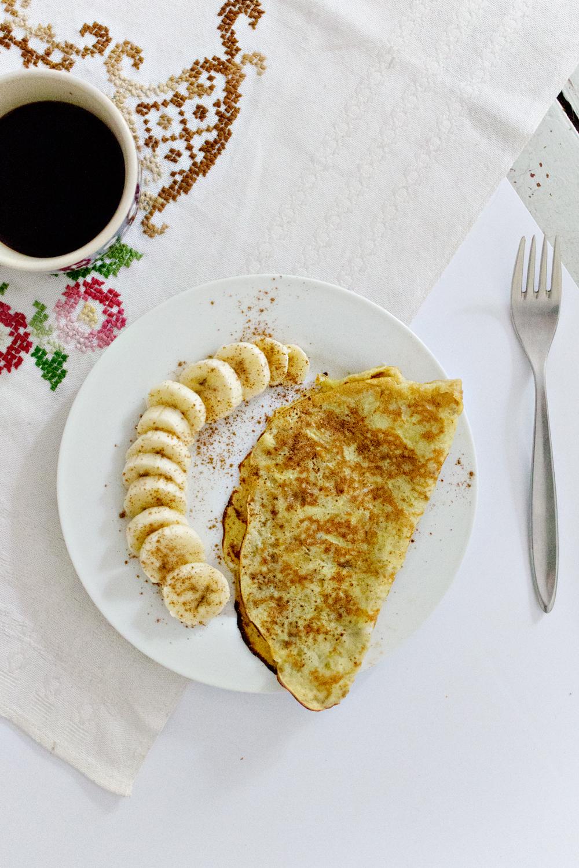 RECIPE   2 Ingredient Banana Pancakes