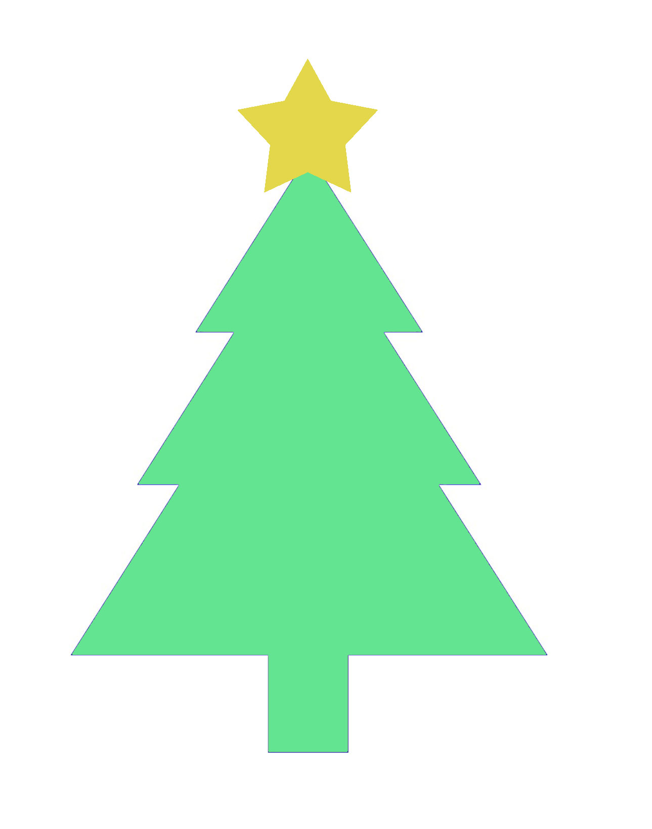 Fabulous image intended for christmas tree printable template